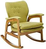 Christopher Knight Home Brannt Mid-Century Fabric Rocker, Muted Green / Light Walnut