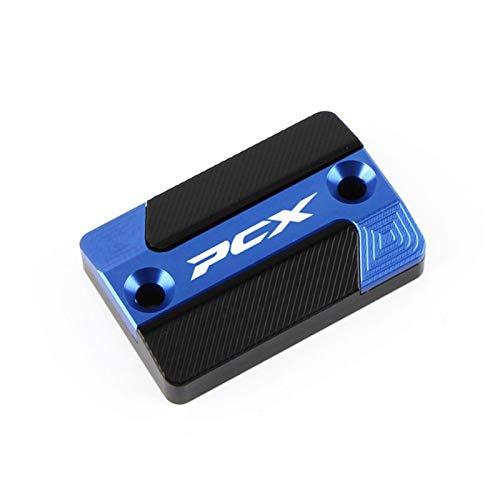 Tapón de aceite de freno para motocicleta HON-DA PCX125 PCX150 2018 2019 Accesorios CNC Freno Líquido Tapa Tapa Tapa de Depósito (Color: Azul)