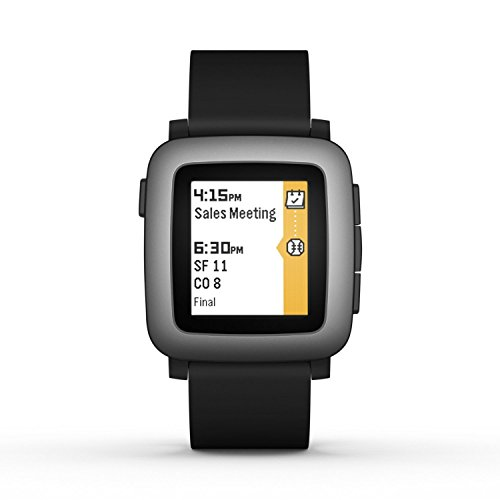 Pebble Time Smartwatch - Black (Renewed)