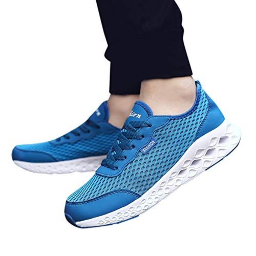 Best Buy! 2019 Men Mesh Running Shoes Lace Up Breathable Running Sneakers Sports Shoes for Training ...