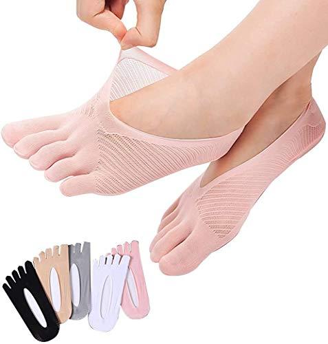 5 Pairs Five Toes Breathable Socks, Orthopedic Compression Socks Women Toe Socks...