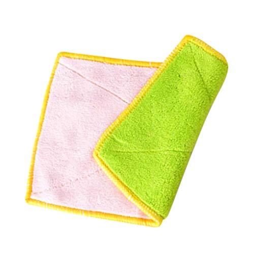 Vokmon 2ST Küche Dish Washing Mikrofasertuch Rags wasserabsorbierende Hitzebeständige