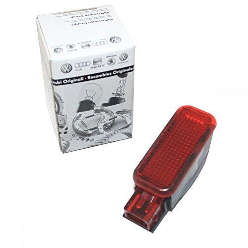 Original Audi Türwarnleuchte Reflektor Rückstrahler rot beleuchtet 6Y0947411 Seitenleuchte Türen