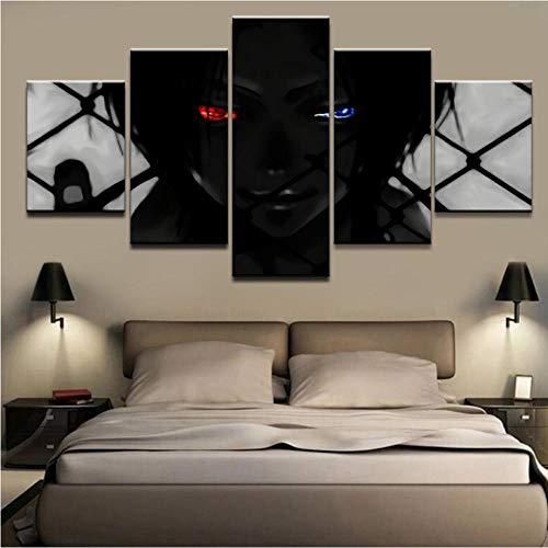 5Tdfc Leinwanddrucke Druckt Bilder Home Wandkunst Poster 5 Stück Animation Hitman Gemälde Auf Moderne Leinwand Wohnzimmer Dekor-100 * 55Cm-Rahmen