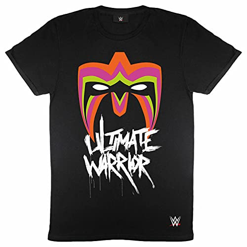 Mens WWE T Shirt Ultimate Warrior Mask tee