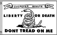 国旗 ガズデン旗 俺を踏むな ガラガラ 蛇 ヘビ 自由か死か 特大フラッグ【EUC】