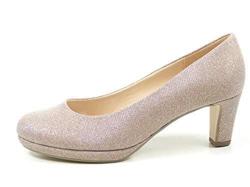 Gabor 81-260 Schuhe Damen Glamour Plateau Pumps Weite F, Schuhgröße:41;Farbe:Rosa