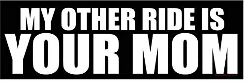 My Other Ride is Your Mom - Funny Auto Car 3x10 Magnet (My Other Ride)