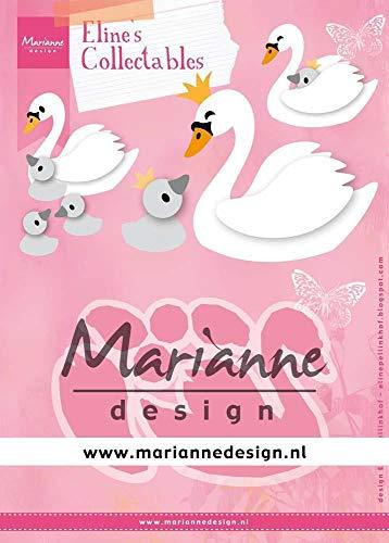 Marianne Design Collectables Fustelle, Cigno, Estate Indiana, per Taglio e Goffratura di Disegni Comples, Metallo, Rosa, small