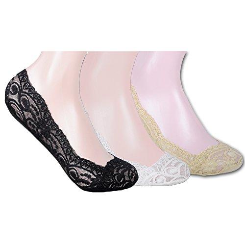 L&K-II 10er Pack Damen Füßlinge Ballerina Socken 2012 Mehrfarbig 39-42