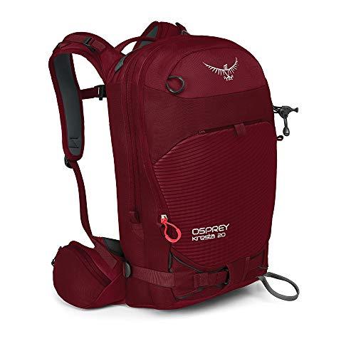 Osprey Kresta 20 Wintersport-Rucksack für Männer - Rosewood Red WS/WM