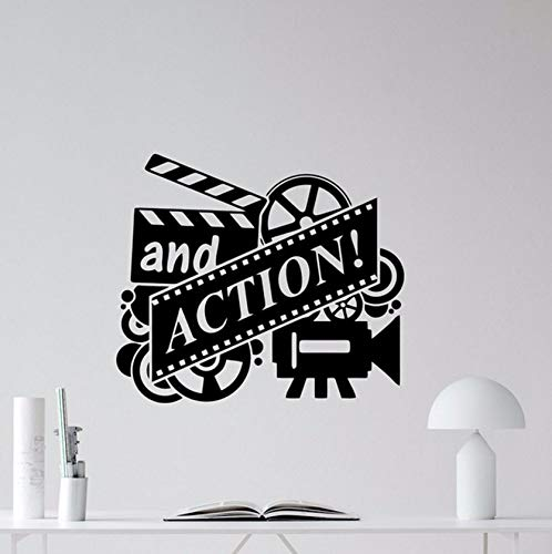 Dalxsh Action Movie Muursticker Film Reel Cinema Home Theater Vinyl Sticker Muurdecoratie Verwijderbare Behang Lijm Muur 49X42Cm
