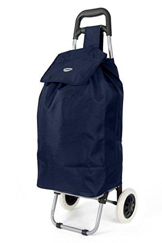 Lightweight Shopping Trolley, Hard Wearing & Foldaway for Easy Storage Luggage (Black Hoppa ST140)
