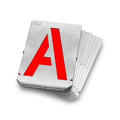 Gravurem 7000800B Signierschablonen Buchstabensatz in Schrifthöhe 80mm