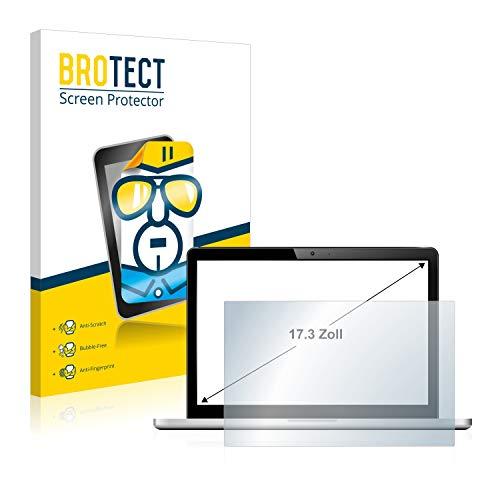 BROTECT Schutzfolie für Notebooks mit 43.9 cm (17.3 Zoll) (383 mm x 215 mm, 16:9) - klare Bildschirmschutz-Folie