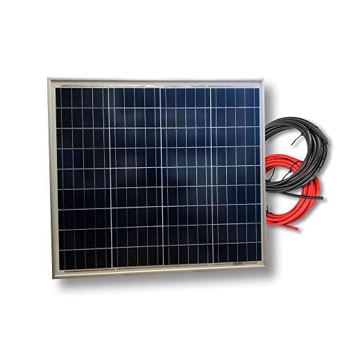 VIASOLAR Panel Solar fotovoltaico 50W 12V Cable 5m