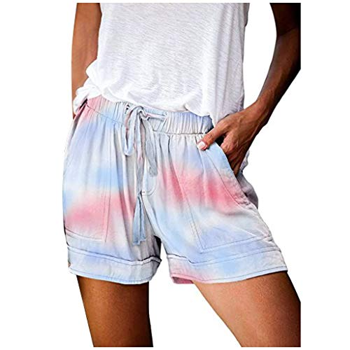 Read About Yoga Shorts for Women - Womens Comfy Drawstring Casual Elastic Waist Pocketed Shorts - Ti...