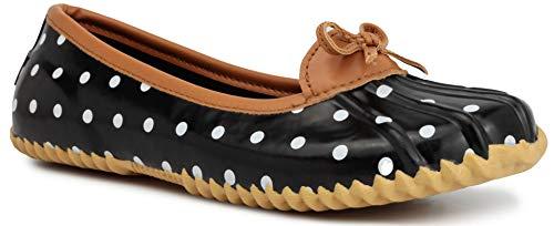 London Fog Womens Webster Rain Shoe Polka 10 M US