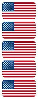 (5) الأمريكية العلم الصلب قبعة ملصقات /