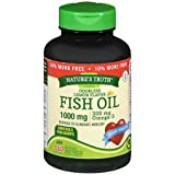 Nature's Truth Vitamins Odorless Fish Oil 1000 mg Lemon Flavor - 110 Softgels, Pack of 2