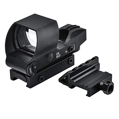EZshoot Reflex Sight 4 Reticles Green and Red Dot Sight with 45 Degree Rail Mount