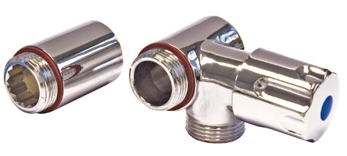 Geräte-Ventil für Wandbatterien | Anschluss rechts | Mit Rückflussverhinderer | Zusatzventil | Gerätezusatzventil | Eckventil | Chrom