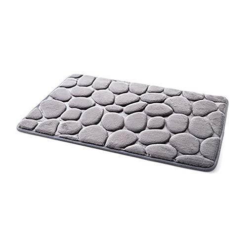 YWLINK Memory-Schaum Bad-Teppiche Angenehm Weiches Wasser SaugfäHig WC Badezimmer Teppich Badematte FußMatten Teppich Teppiche Pebble Atmungsaktivem