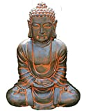 AnaParra Estatua Buda Tissa delÉxito Figura Decorativa para Jardín o Exterior Hecho de Piedra Artifi...