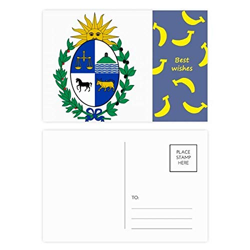 DIYthinker Uruguay Südamerika National Emblem Banana Postkartenset dankt Karte Mailing Side 20pcs 5.7 Zoll x 3.8 Zoll Mehrfarbig