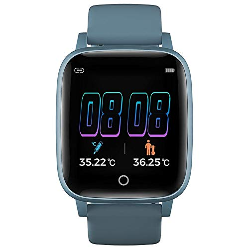 T1S Smart Watch, große Touchscreen-Sportuhr, Fitness-Tracker mit Blutdruck-Herzfrequenzmesser, wasserdichtes Gesundheitsmonitor Bluetooth 5.0 Intelligentes Armband für Männer Frauen