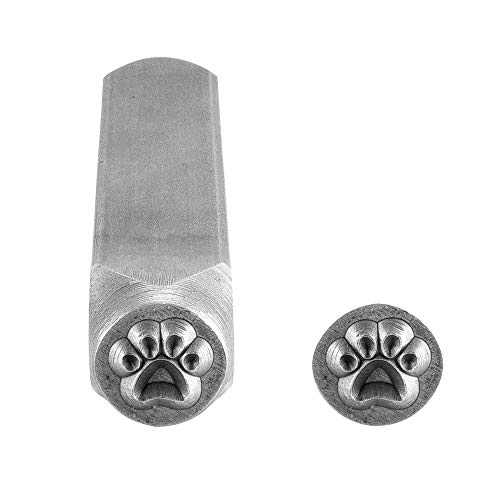 Yoption Dog Paw Metal Punch Stamp Stamping Tool 6mm for Stamping/Punching Metal, Jewelry, Clay, Leather, Wood