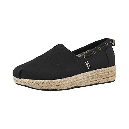 Skechers Women's Highlights-Set SAIL Espadrilles, Black (Black Blk), 5 (38 EU)