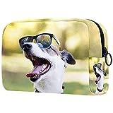 Neceser Viaje Hombre y Mujer Gafas de Sol Cool Dog Pequeño Bolsas de Aseo Neceser Maquillaje Pack Neceser Baño Toiletry Kit, Cosmético Organizadores de Viaje 18.5x7.5x13cm