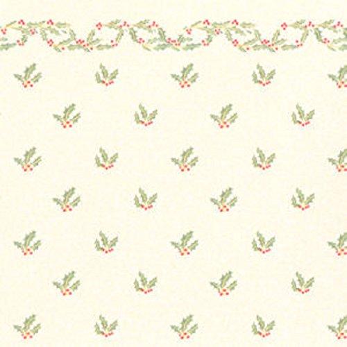Melody Jane Casa de Muñecas Miniatura Impresión 1:12 Escala Christmas Acebo con...