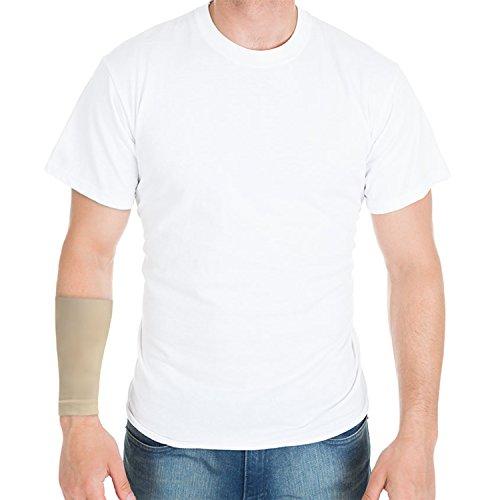 ReLive Lycra - Funda protectora para brazo de tatuaje con protección UV, absorbe la humedad (individual) - Beige - Large media manga
