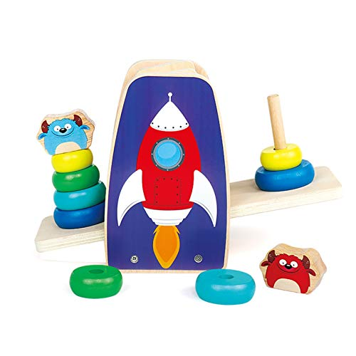 WFF Spielzeug Holzbausteine Set Turm Spielzeug Jenga Ring Lernspielzeug 12 Monate -1-2-3 Kinder (Color : 3pieces)