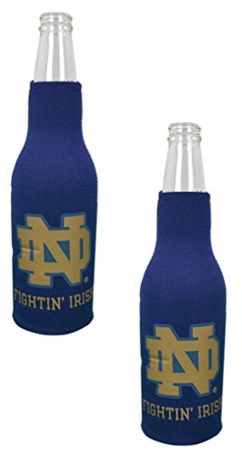 Official National Collegiate Athletic Association Fan Shop Authentic NCAA 2-Pack Insulated Bottle Cooler (Notre Dame Irish)