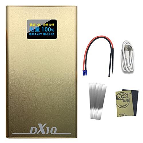 Kemelo 5300 / 10600Mah Batería de polímero de Litio Equipo de Soldadura por Puntos Soldadora por Puntos de Pantalla OLED portátil Ajustable de 20 Niveles, Multiherramienta inalámbrica, TP 2