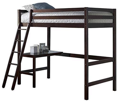 Hillsdale Furniture Caspian Twin Loft Bed, Chocolate
