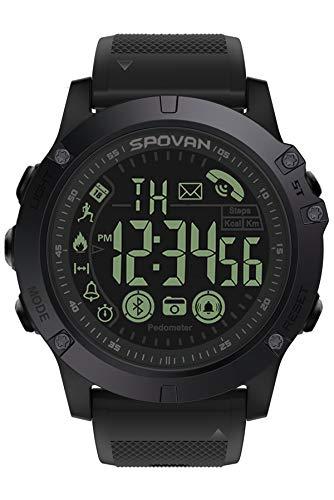 Smartwatch Fitness Tracker Armband Schrittzähler Kamera Bluetooth Sport Herrenuhr 5ATM Wasserdicht IP68 Schwimmen iOS Android Kompatibel