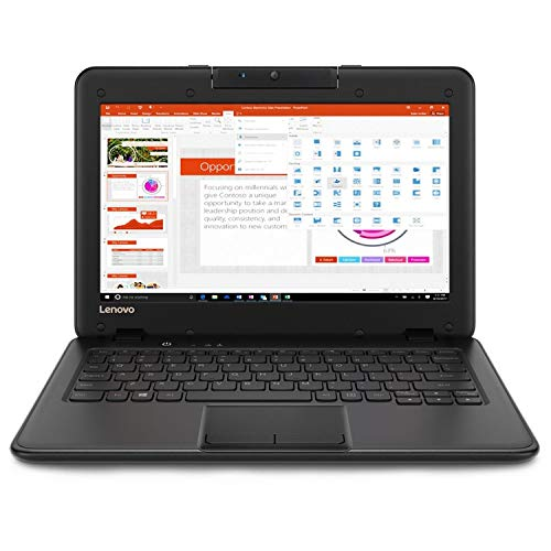 Lenovo 300e Winbook 11.6' Touch 8GB 128GB Intel Celeron N4100 Win10,Black(Renewed)