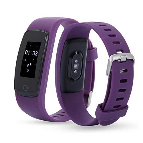 KUIDAMOS Pulsera Inteligente IP 67 Resistente al Agua para la Salud y la Actividad física como Alarma, cómoda de Llevar(Purple)