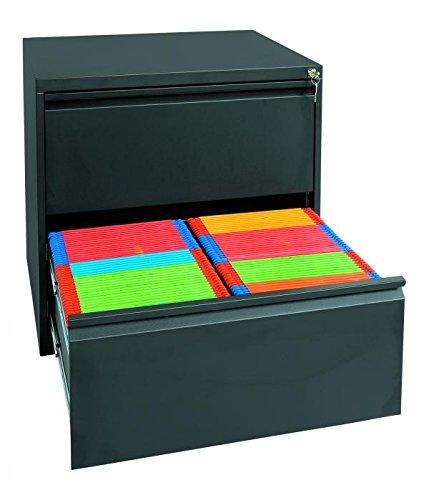 Profi Stahl Büro hängeregistratur Schrank Bürocontainer 700 x 760 x 620mm (HxBxT) mit 2 Schüben, doppelbahnig 561229 kompl. montiert und verschweißt