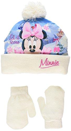 Minnie Mouse Let it Snow Bonnet, Blanc (Offwhite), 1 (Taille Fabricant: 48) Bébé Fille