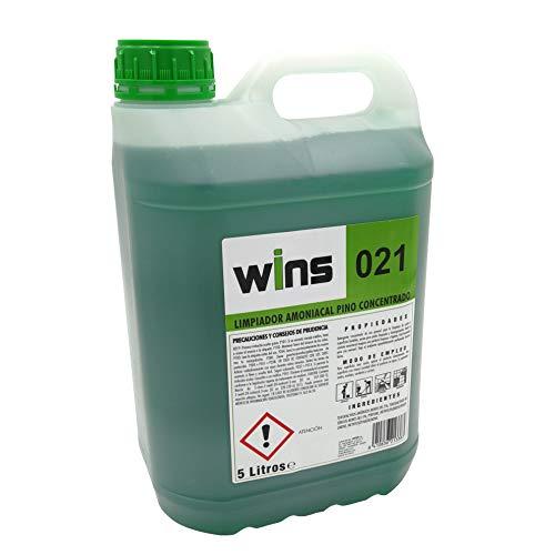 VINFER Limpiador Gel detergente amoniacal Pino Concentrado Wins 021. 5 litros.