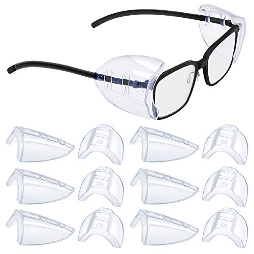 2/4/6/10 Pairs Glasses Side Shields for Eye Glasses,Safety Glasses with Side for Eye Protection-Fits Small to Medium Eyeglasses (6)