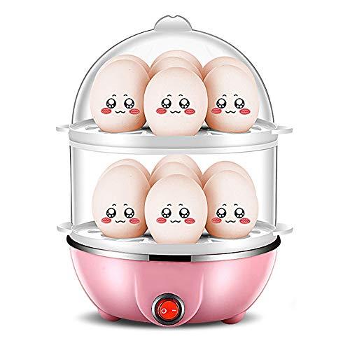 Doppellagiger Dampfgarer, Automatischer Eierkocher, Geeignet FüR Familien Mit Kindern, Hartgekochte Eier, Pochierte Eier, Spiegeleier Und Dampfgarer