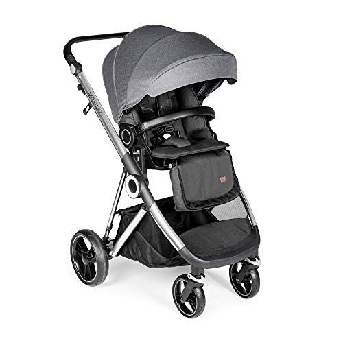 Innovaciones MS Mommy Plus - Carro De Bebé 3 Piezas, Capazo,Sillita y Grupo 0+ - Color Gris