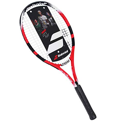 BABOLAT Eagle Strung - Racchetta per adulti, unisex, colore: rosso nero, bianco, 2