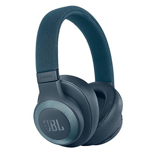 JBL E65BTNC Kabelloser Over-Ear-Kopfhörer mit Mikrofon und Active Noise Cancelling - Blau